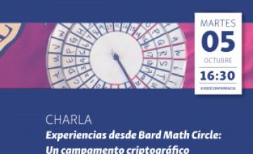 """Ciclo de Conferencias Formativas PMYC: """"Experiencias desde Bard Math Circle: Un campamento criptográfico: """" Dr. Japheth Wood (Lunes 5 de Octubre, 16:30 hrs)"""